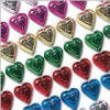 Rainbow Foil Chocolate Hearts