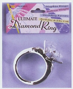 colossal ultimate faux diamond ring 250 - Plastic Wedding Rings